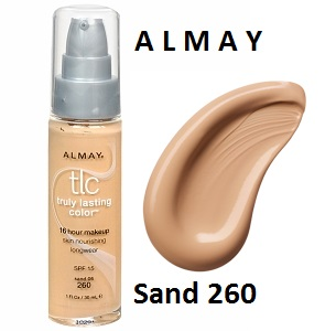 Base Maquillaje Anti-Alérgico 16 Horas Almay Sand 260