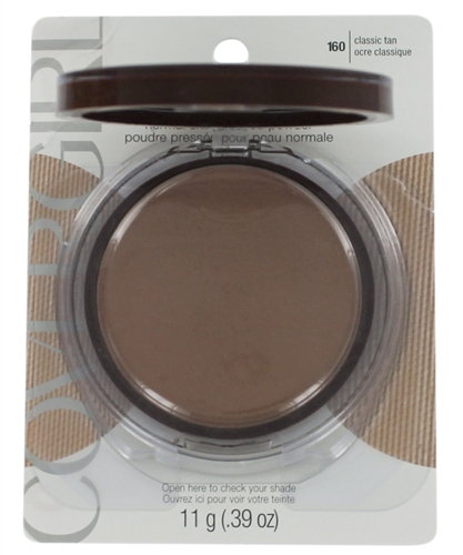 Clean Covergirl Normal Skin Pressed Powder Classic Tan 160