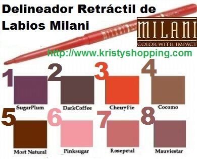 Lots 6 Units Delineadores de Labios Retráctil Milani