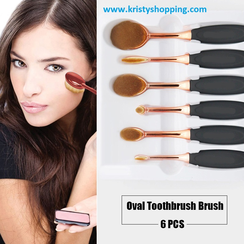 Elite Oval Toothbrush Makeup Brushes