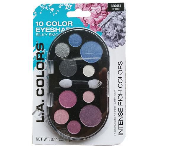 Paletta 10 Color Eyeshodow L.a. Colors BES484