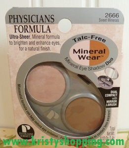 PHYSICIANS FORMULA ULTRA SHEER TALC FREE EYE SHADOW DUO 2666