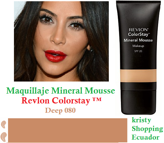 Maquillaje Mineral Mousse Revlon Colorstay ™ 080 Profundo