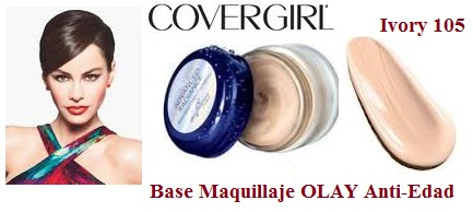 Base Maquillaje OLAY Anti-Edad CoverGirl Ivory 105