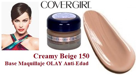 Base Maquillaje OLAY Anti-Edad CoverGirl Creamy Beige 150