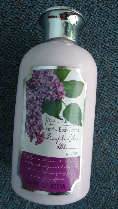 Crema de manos y Cuerpo Crystal Waters Spa de Lilas Purpura