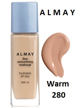Almay Line Smoothing Makeup Liquid Base Foundation Warm 280