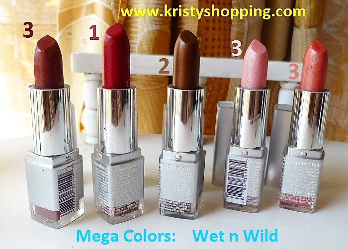 Lots 8 Units MegaColors Lipstick, Wet n Wild