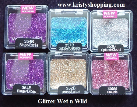 Lots 6 psc Wet n Wild Shadow Glitter