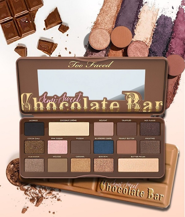 Paleta De Sombras Chocolate Bar Semi Sweet Too Faced
