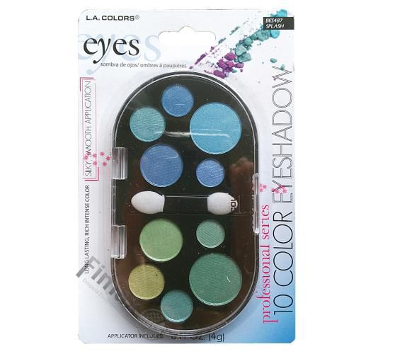 Paletta 10 Color Eyeshodow L.a. Colors BES487
