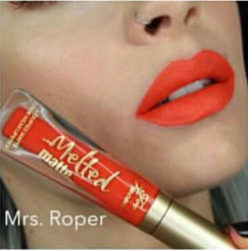 Labial Melted Matte Too Faced Mrs. Roper